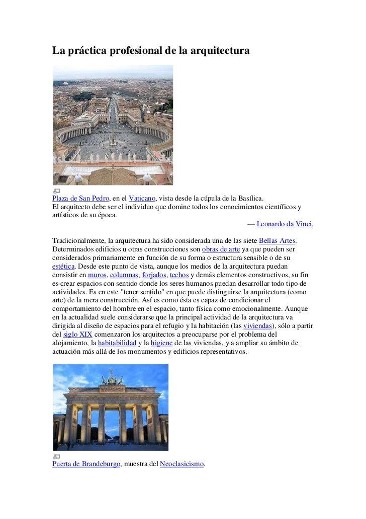 La práctica profesional de la arquitectura<br />Plaza de San Pedro, en el Vaticano, vista desde la cúpula de la Basílica.<...