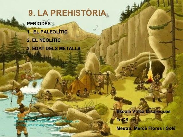 9. LA PREHISTÒRIA       PERÍODES       1. EL PALEOLÍTIC       2. EL NEOLÍTIC       3. EDAT DELS METALLS                   ...