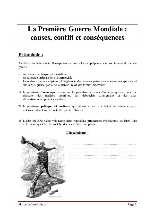Introduction dissertation 1ere guerre mondiale