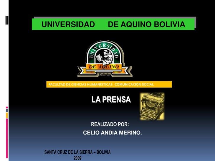 La Prensa En Bolivia Siglo Xxi