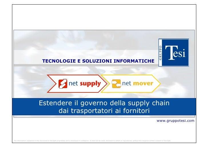 TECNOLOGIE E SOLUZIONI INFORMATICHE                                Estendere il governo della supply chain                ...