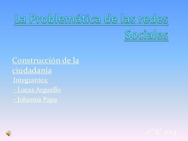 La problemática de las redes sociales