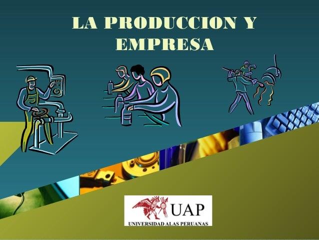 Company LOGO LA PRODUCCION Y EMPRESA
