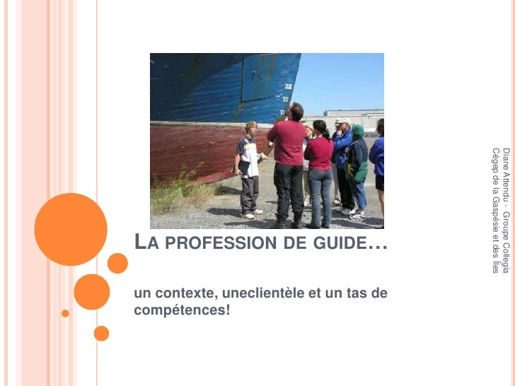 La profession de guide