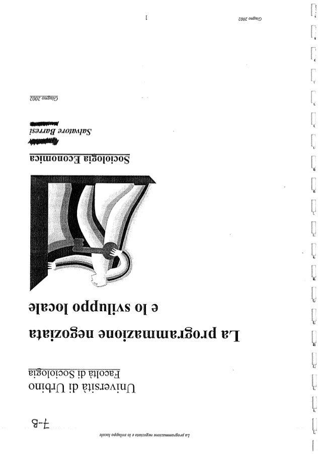 La programmazione negoziata e lo sviluppo locale soc-ec s. barresi-2002