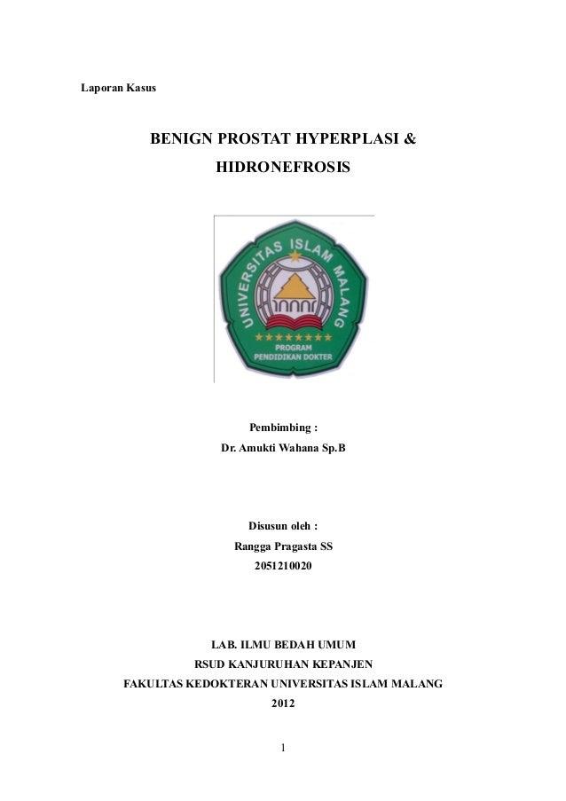 Laporan Kasus           BENIGN PROSTAT HYPERPLASI &                   HIDRONEFROSIS                        Pembimbing :   ...