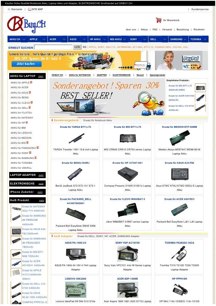 KaufenHoheQualitätNotebookAkku,LaptopAkkuundAdapter,ELEKTRONISCHEGroßhandelaufOKBUY.CH.    Startseite     |   ...