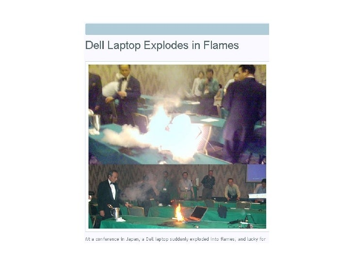Laptop battery fire pictures