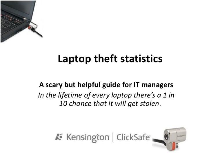 Laptop theft statistics