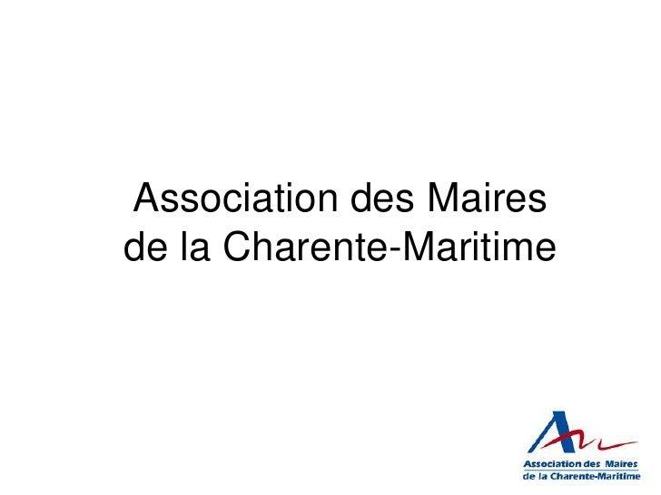 Association des Mairesde la Charente-Maritime