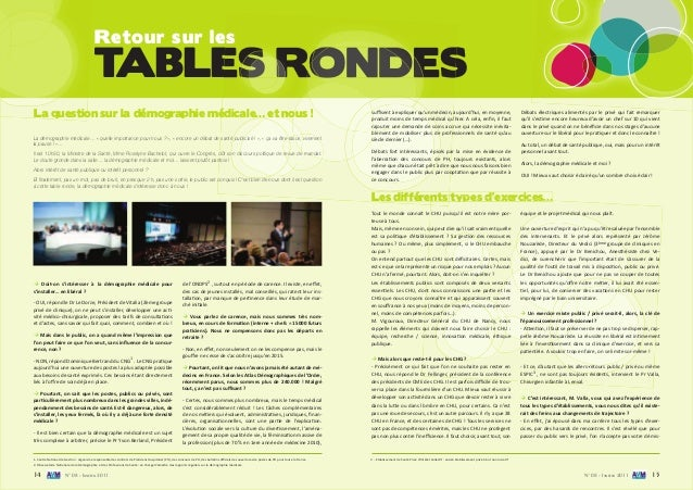 14 N° 08 - Janvier 2011 N° 08 - Janvier 2011 15 TABLES RONDES Retour sur leses TABLES RONDESTABLES RONDESTABLES RONDES La ...