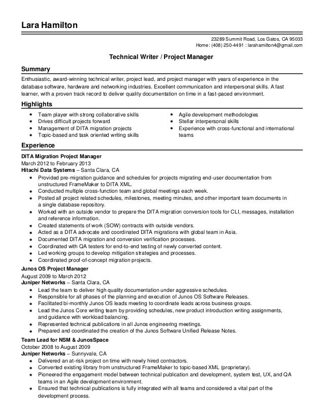 agile pm resume samples