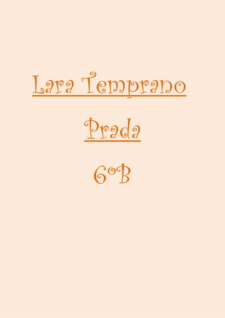 Lara Temprano    Prada     6ºB