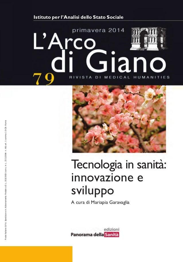 L'arco di giano tecnologia e sanità 79 2014)