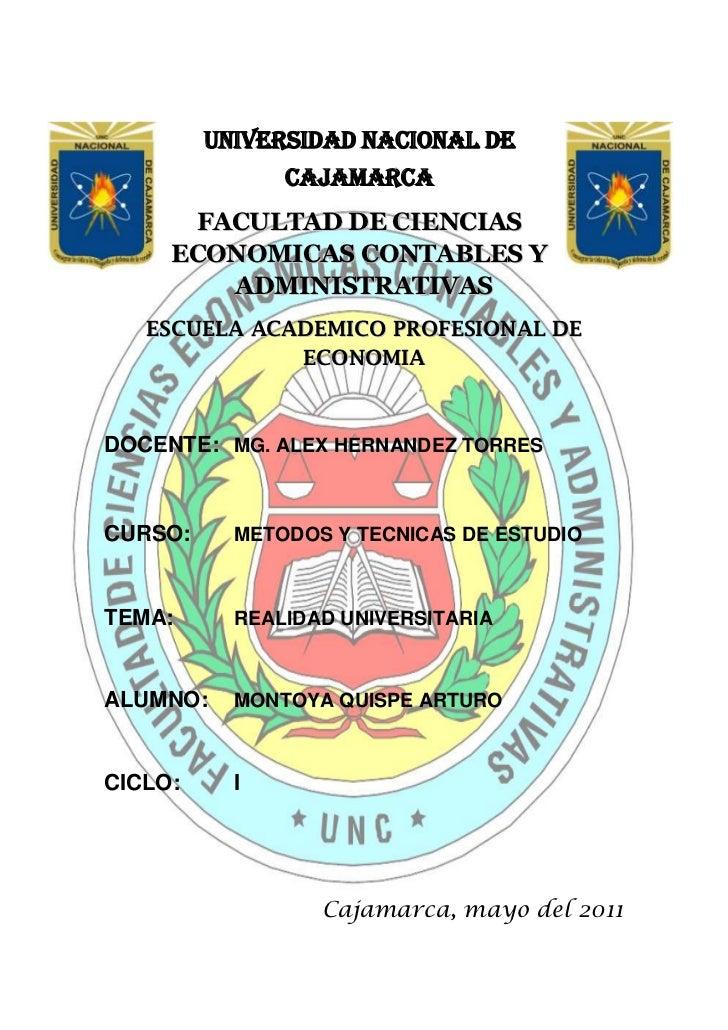 -105537086868047840902540-5867402540UNIVERSIDAD NACIONAL DE CAJAMARCA<br />FACULTAD DE CIENCIAS ECONOMICAS CONTABLES Y ADM...