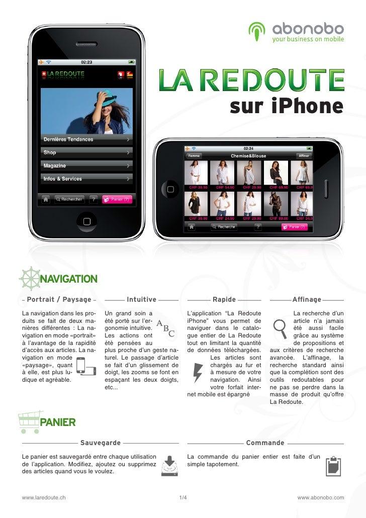 sur iPhone           NAVIGATION  Portrait / Paysage                    Intuitive                            Rapide        ...