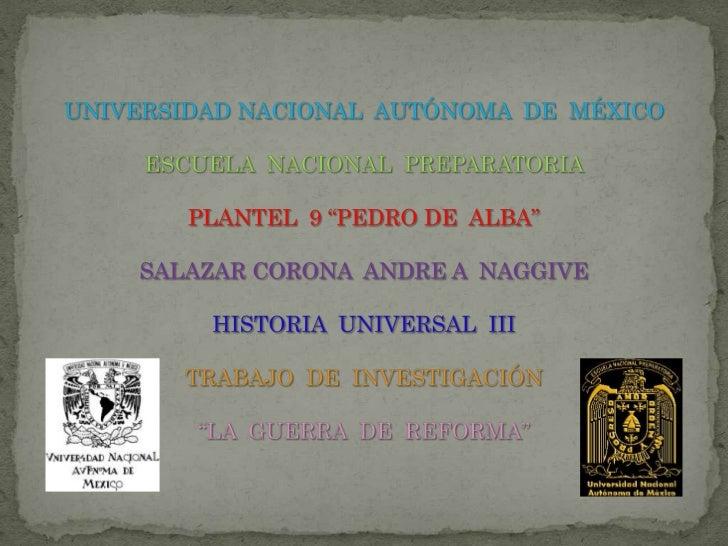 "UNIVERSIDAD NACIONAL  AUTÓNOMA  DE  MÉXICOESCUELA  NACIONAL  PREPARATORIAPLANTEL  9 ""PEDRO DE  ALBA""SALAZAR CORONA  ANDRE ..."
