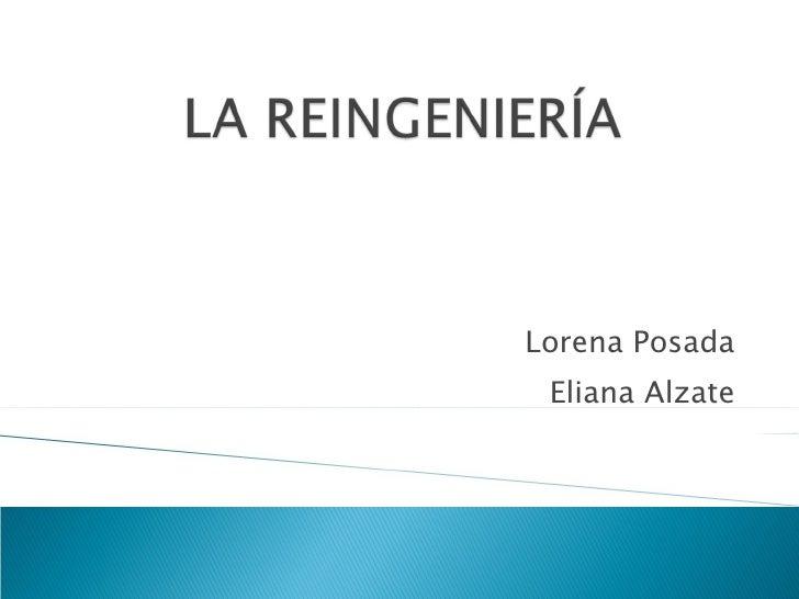 Lorena Posada Eliana Alzate