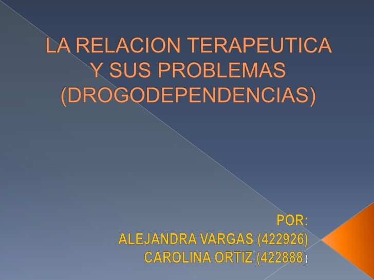 La relación terapéutica es el canal a través del cual  transcurre la psicoterapia y por lo tanto es la condición  de posib...