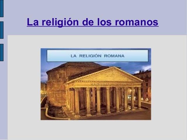 La religión de los romanos