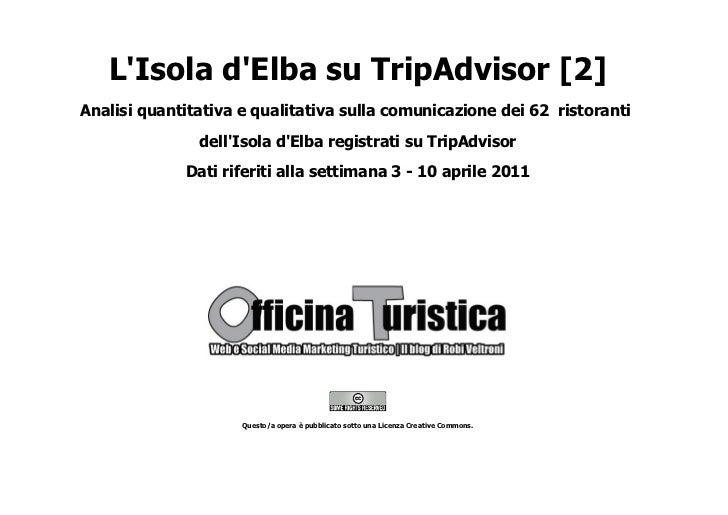 LIsola dElba su TripAdvisor [2]Analisi quantitativa e qualitativa sulla comunicazione dei 62 ristoranti               dell...