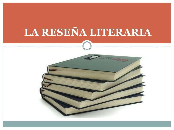 La reseña literaria