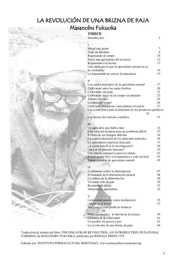 Cover of La revolución de una brizna de paja