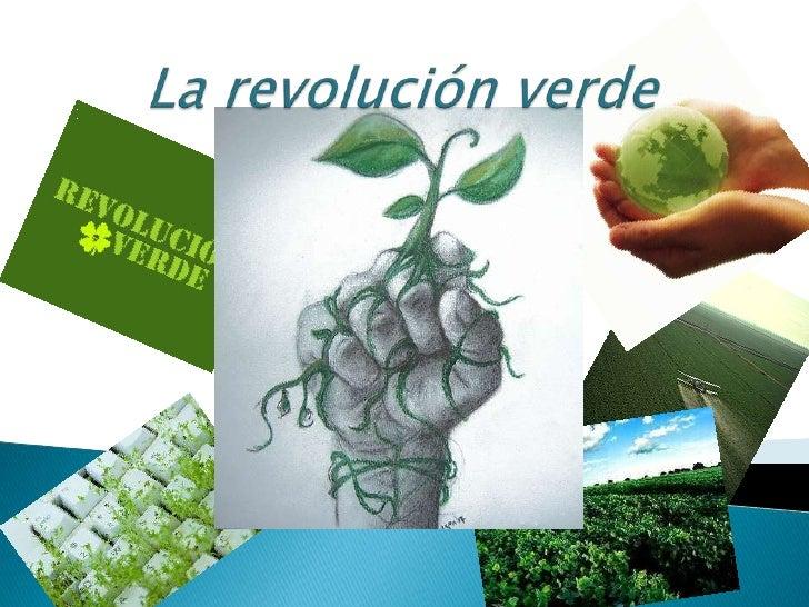 Es el nombre con el que se bautizó en los círculos internacionales al importante incremento de la productividad agrícola. ...