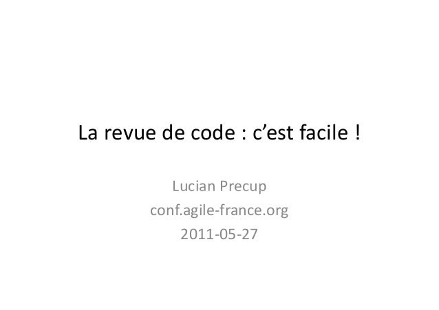 La revue de code : facile !