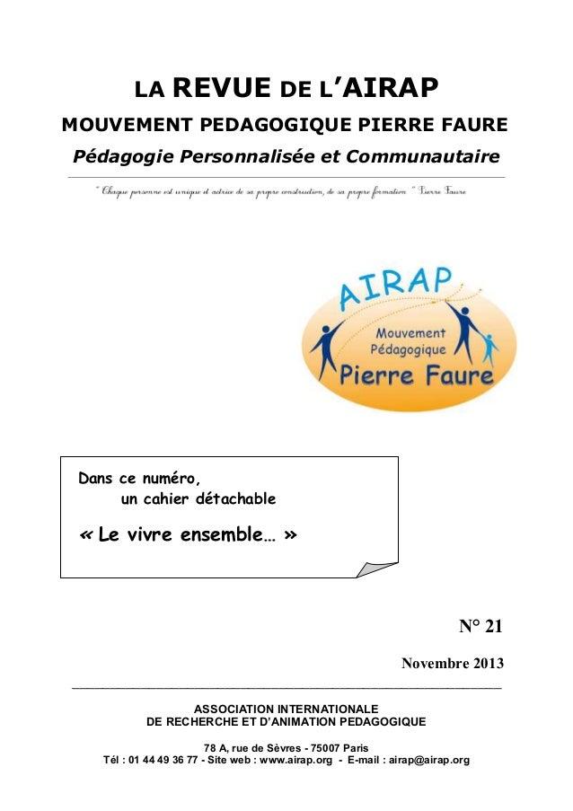 La revue de l'AIRAP n°21