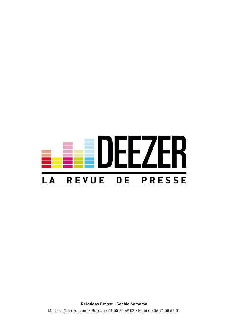La revue de presse deezer part 2