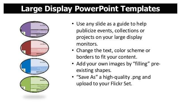 Large display templates