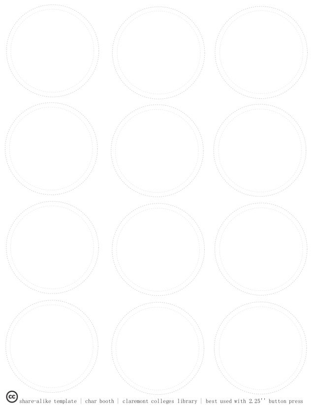 ccl blank button template with inner ring. Black Bedroom Furniture Sets. Home Design Ideas