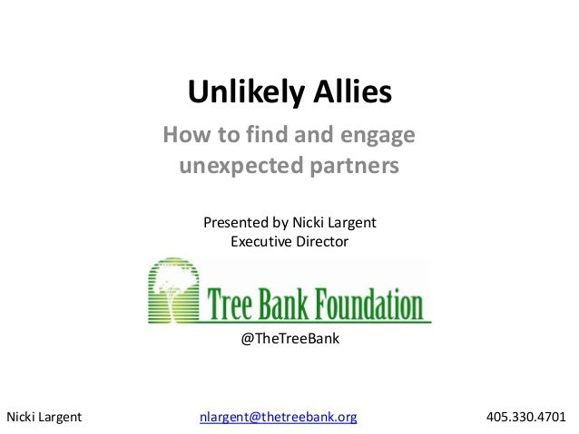 """Unlikely Allies, Unexpected Partners"" by Nicki Largent, Executive Director, Tree Bank Foundation"