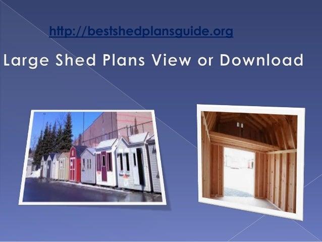 Plans For Big Sheds