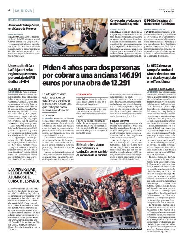 La inversión en I+D+i en España por habitante cae un 7% (La Rioja)