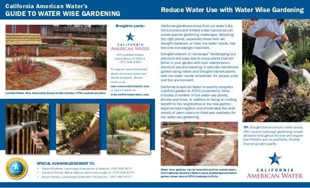 California Guide to Water Wise Gardening - California American Water's