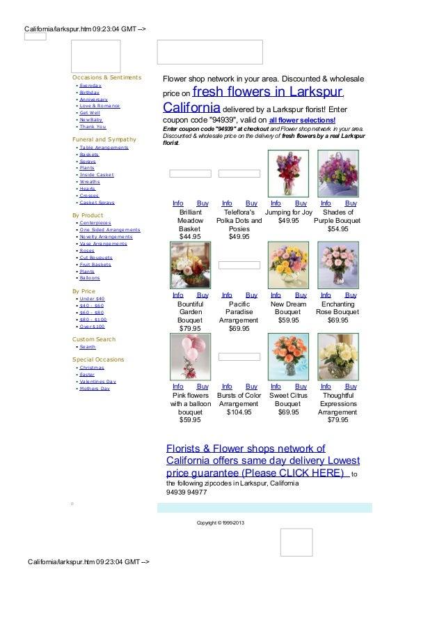Larkspur flower shops and florists
