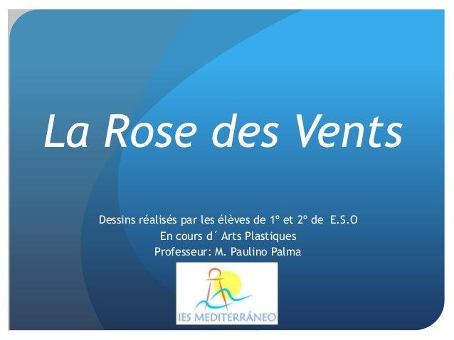 Dessins réalisés par les élèves de 1º et 2º de E.S.O En cours d´ Arts Plastiques Professeur: M. Paulino Palma La Rose des ...