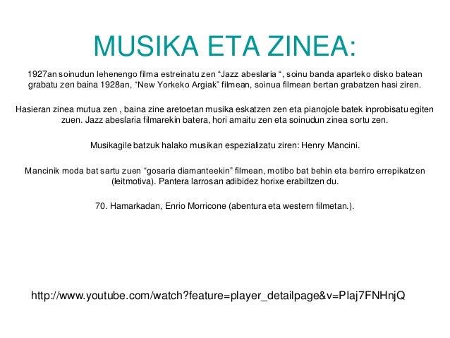 """MUSIKA ETA ZINEA:  1927an soinudun lehenengo filma estreinatu zen """"Jazz abeslaria """", soinu banda aparteko disko batean  gr..."""