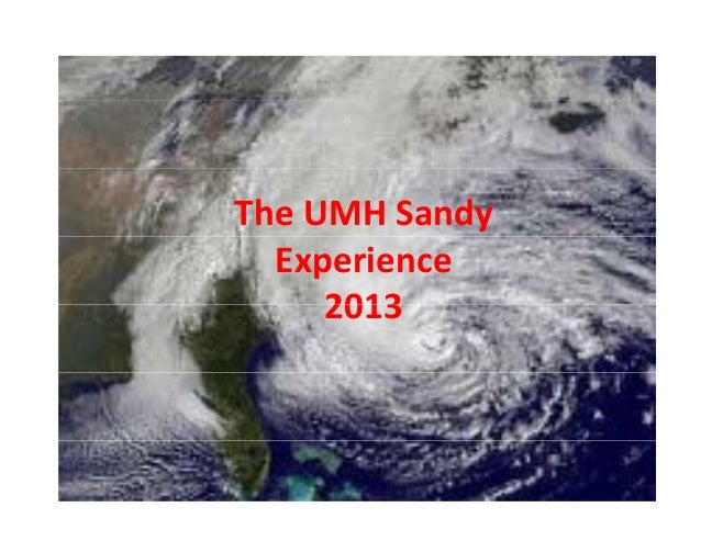 TheUMHSandy Experience 2013  www.wordle.net