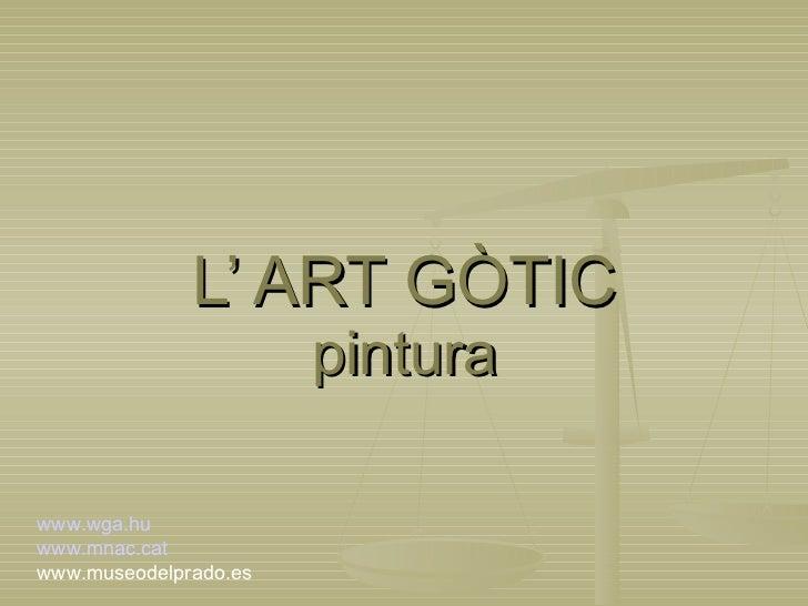 L'art gòtic pintura (slide)