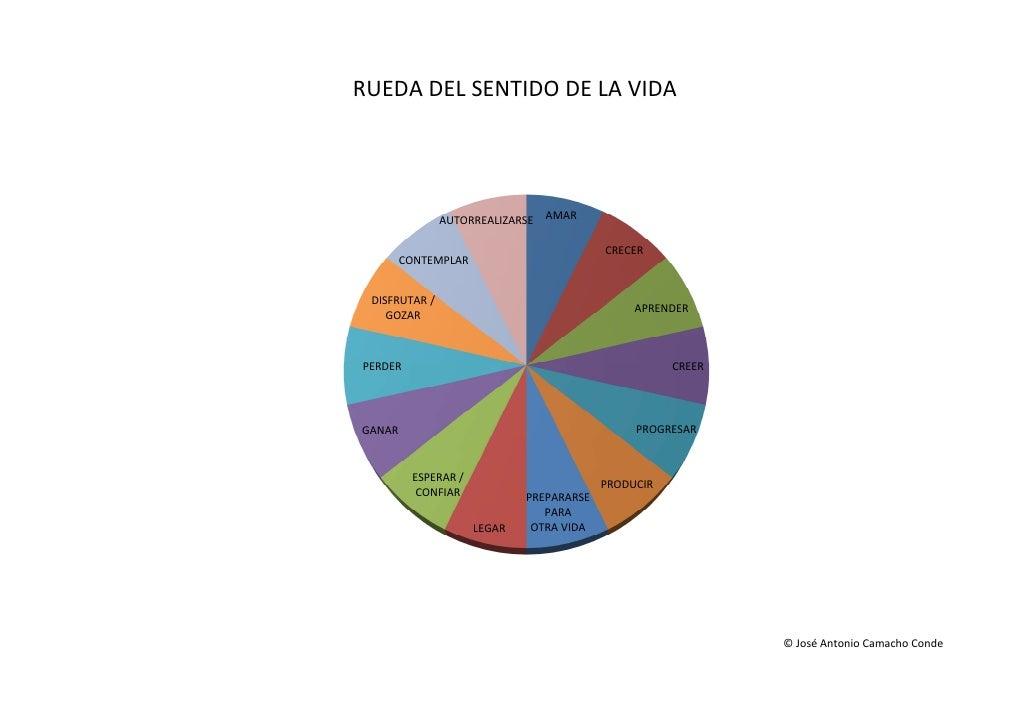RUEDA DEL SENTIDO DE LA VIDA               AUTORREALIZARSE   AMAR                                          CRECER        C...