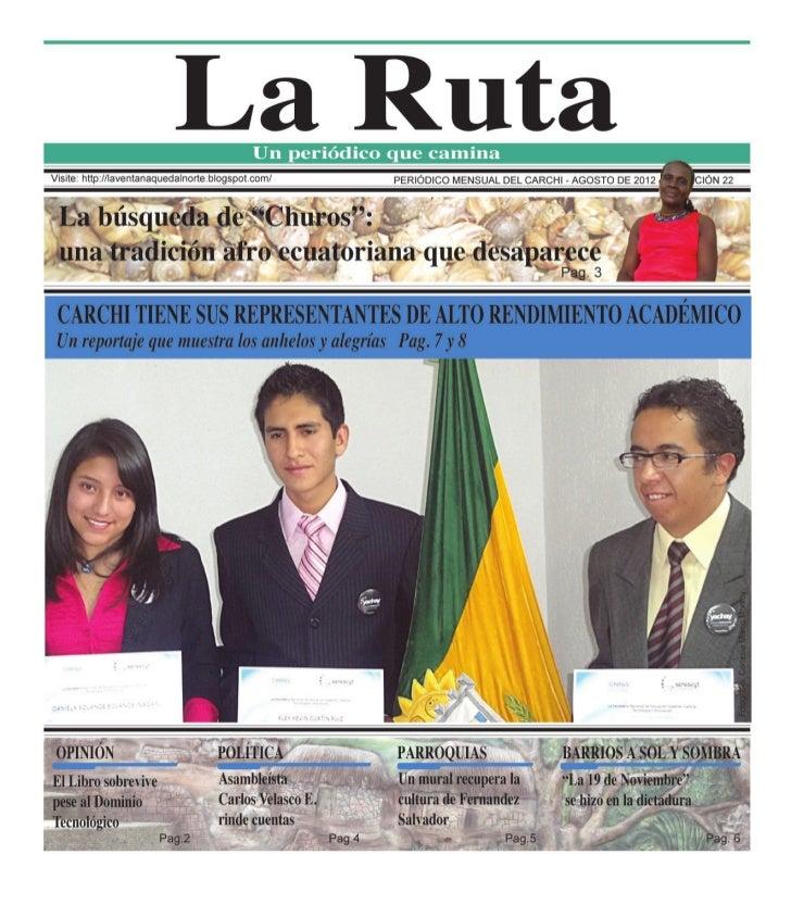 LA RUTA edición agosto