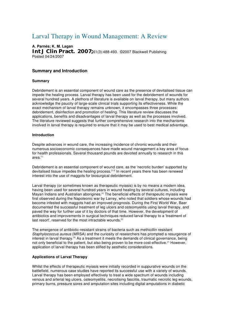 Larvaterapia moderna2007