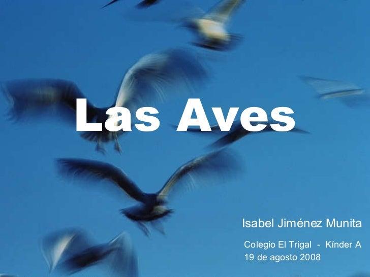 Las Aves Isabel Jiménez Munita Colegio El Trigal  -  Kínder A 19 de agosto 2008