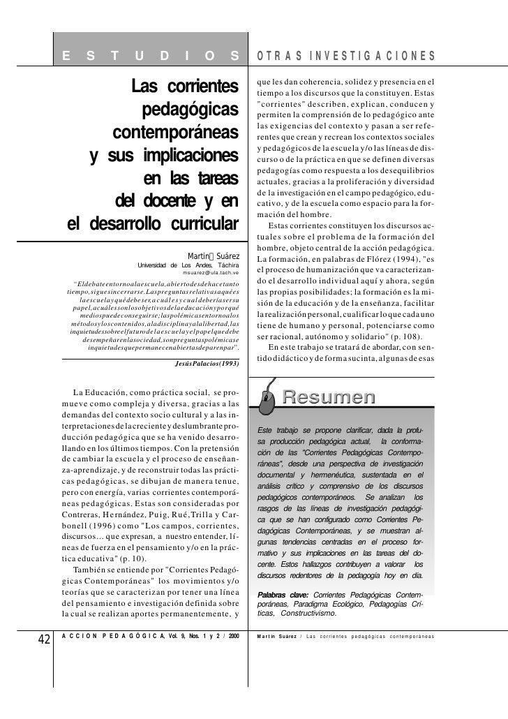 Las Corrientes Pedago Contemporaneas