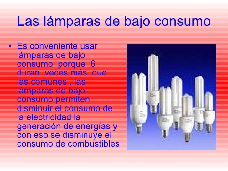 Las l mparas de bajo consumo - Emisores termicos de bajo consumo ...