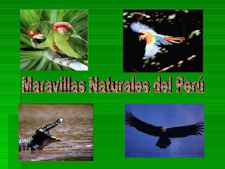 Maravillas Naturales del Perú