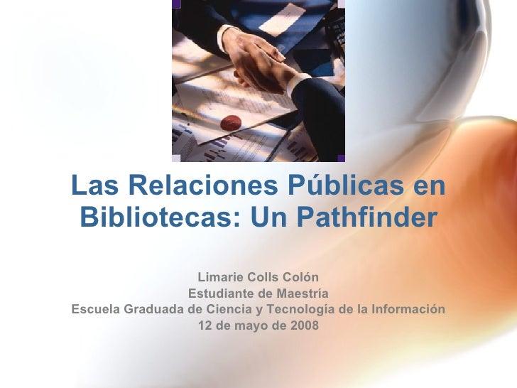 Las Relaciones Públicas en Bibliotecas